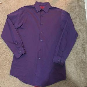 🆕Alfani Purple Button Up Shirt